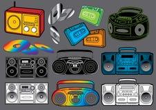 Elementos #3 de los sonidos: Jugadores de música Ilustración del Vector