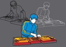 Elementos #4 de los sonidos: DJ Fotografía de archivo