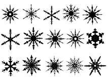 Elementos 4 del copo de nieve stock de ilustración