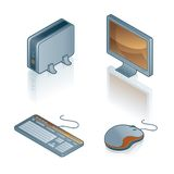 Elementos 44b del diseño. Iconos del ordenador fijados Fotografía de archivo