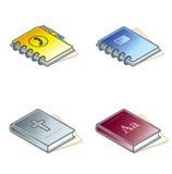 Elementos 45c del diseño. Iconos de papel de Suff fijados Foto de archivo libre de regalías