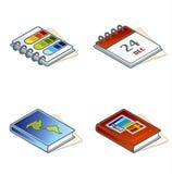 Elementos 45d del diseño. Iconos de papel de Suff fijados Imagenes de archivo