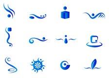 Elementos abstractos azules
