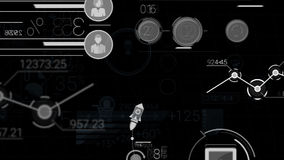 Elementos abstractos de Infographics con Alpha Channel