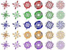 Elementos abstractos del diseño del icono de la insignia del vector Imágenes de archivo libres de regalías