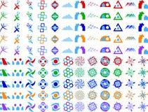 Elementos abstractos del diseño del icono de la insignia del vector Foto de archivo libre de regalías