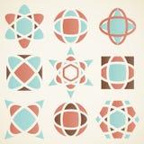 Elementos abstractos del diseño del logotipo, Foto de archivo libre de regalías