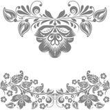 Elementos abstractos del diseño floral del vector Fotografía de archivo libre de regalías