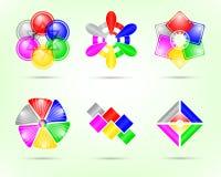 Elementos abstractos del diseño para el Web Foto de archivo libre de regalías