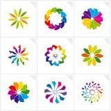Elementos abstractos del diseño. Vector. Imagen de archivo