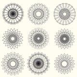 Elementos abstractos del guilloquis del vector en el fondo blanco Uso para Fotografía de archivo libre de regalías