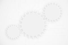 Elementos abstractos modernos de la rueda de engranaje del fondo de la tecnología stock de ilustración