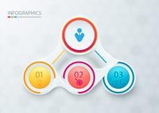Elementos abstractos para infographic Plantilla para el diagrama, gráfico, ilustración del vector