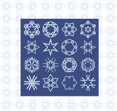 Elementos abstractos para las ideas del diseño Plantillas básicas del símbolo para libre illustration