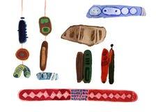 Elementos abstratos da aquarela para seu projeto Illus pintado à mão Imagens de Stock Royalty Free