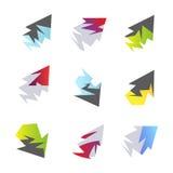Elementos abstratos da seta Foto de Stock Royalty Free