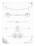 Elementos abstratos do projeto do vetor, beiras, quadros Fotografia de Stock