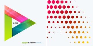 Elementos abstratos do projeto do vetor para a disposição gráfica Molde moderno do fundo do negócio com triângulos coloridos, Fotografia de Stock