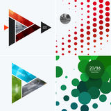 Elementos abstratos do projeto do vetor para a disposição gráfica Molde moderno do fundo do negócio com triângulos coloridos, Imagem de Stock