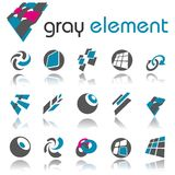 Elementos abstratos do projeto. Jogo 3. Foto de Stock Royalty Free