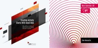 Elementos abstratos do projeto do vetor para a disposição gráfica Fotos de Stock Royalty Free