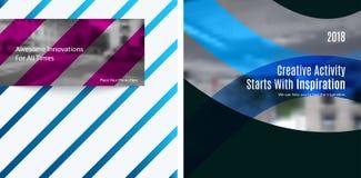 Elementos abstratos do projeto do vetor para a disposição gráfica Imagens de Stock