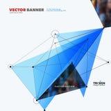 Elementos abstratos do projeto do vetor para o molde gráfico Fotos de Stock