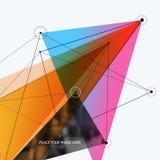 Elementos abstratos do projeto do vetor para o molde gráfico Foto de Stock Royalty Free