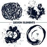Elementos abstratos para seu projeto Escuro - azul Fotos de Stock