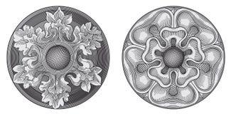 Elementos adornados del diseño stock de ilustración