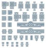 Elementos adornados del diseño del marco ilustración del vector