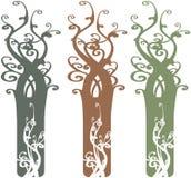 Elementos adornados interesantes Illustrati del diseño del árbol Ilustración del Vector
