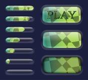 Elementos aislados del interfaz del juego Fotografía de archivo