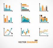 Elementos ajustados de Infographic, gráfico, diagramas ilustração royalty free