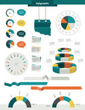 Elementos ajustados do círculo gráfico da informação Imagens de Stock Royalty Free