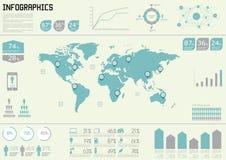 Elementos ajustados do vetor do infographics. Foto de Stock Royalty Free