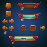 Elementos ajustados móveis do GUI dos curandeiros da selva Fotografia de Stock Royalty Free