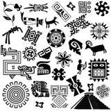 Elementos americanos antiguos del diseño Imagen de archivo libre de regalías