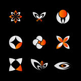 Elementos anaranjados del diseño Fotos de archivo