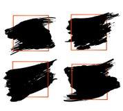 Elementos anaranjados y negros modernos determinados del diseño del marco de la cita del bloque y de la cita del tirón Plantilla  libre illustration