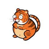 Elementos animales del tema de la historieta del tigre ilustración del vector