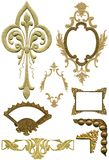 Elementos antiguos 5 del diseño Imágenes de archivo libres de regalías