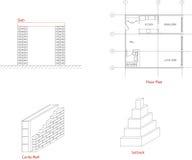 Elementos arquitectónicos Ilustración del Vector