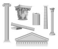 Elementos arquitectónicos antigos Imagem de Stock