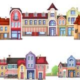 Elementos arquitectónicos casa, loja e loja Foto de Stock Royalty Free