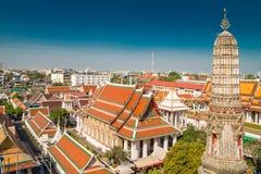 Elementos arquitectónicos de Wat Arun, el Temple of Dawn Imagenes de archivo