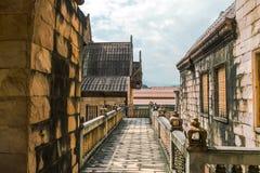 Elementos arquitectónicos de Wat budista, Tailandia septentrional Imagen de archivo libre de regalías