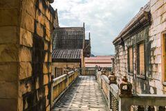 Elementos arquitetónicos de Wat budista, Tailândia do norte Imagem de Stock Royalty Free