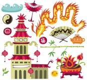 Elementos asiáticos do projeto. Imagens de Stock