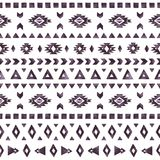 Elementos astecas da aquarela preta no fundo branco Imagens de Stock